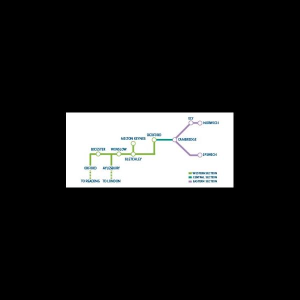 East West Rail Map