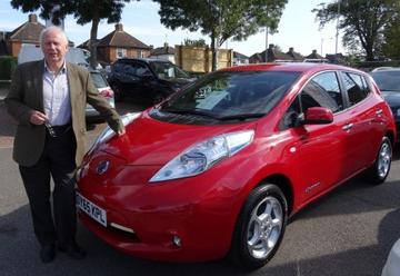 Nick Hollinghurst's Nissan Leaf