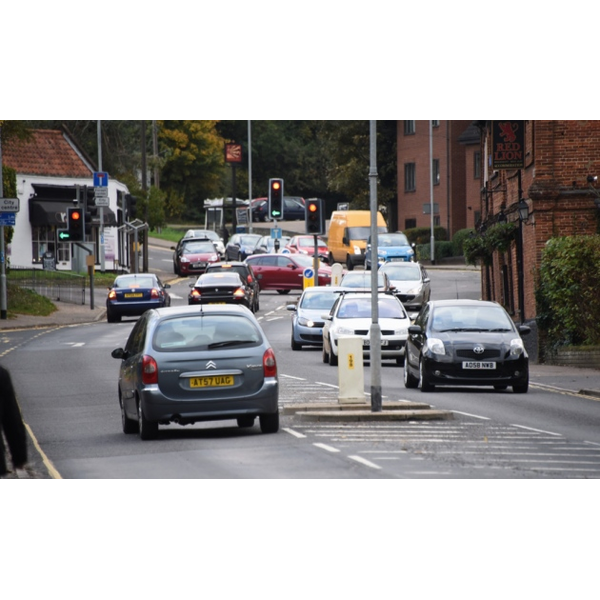 Traffic at Eaton on Eaton Street at the busy junction with Bluebell Road to the left, and Church Lane to the right. Picture: Denise Bradley (http://images.archant.co.uk/polopoly_fs/1.5513395.1525976163!/image/image.jpg_gen/derivatives/landscape_630/image.jpg)